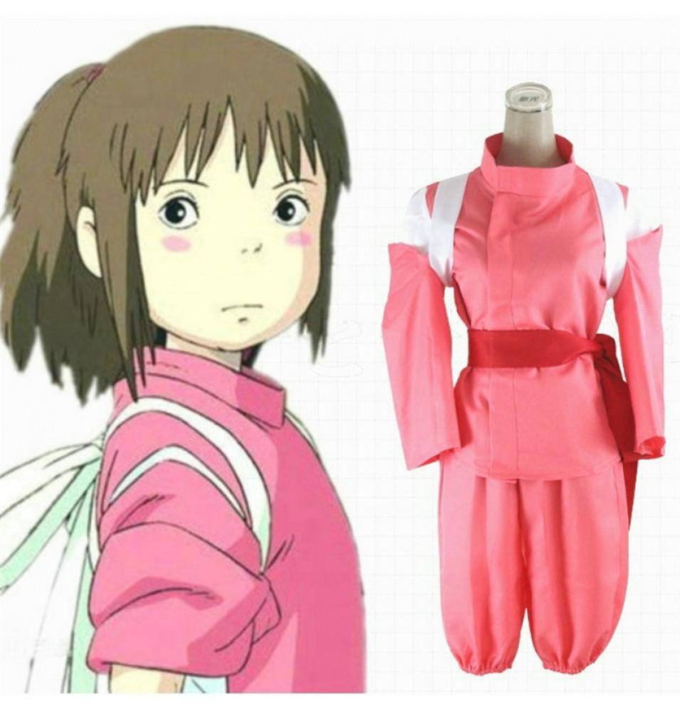 Miyazaki Hayao Spirited Away Cosplay Ogino Chihiro kimono Suit Costumes