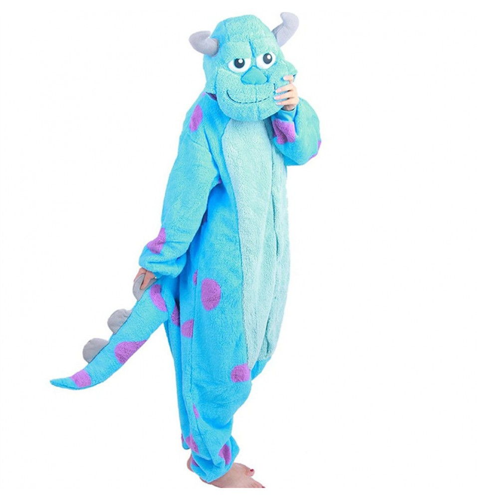 Monsters Inc Sulley Onesie Kigurumi Pajama For Adults