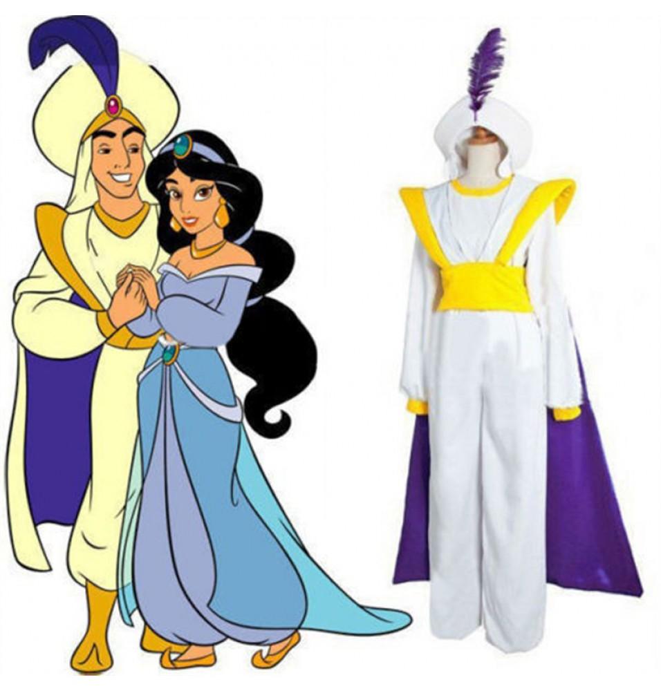 Movie Aladdin Prince Cosplay Halloween Party Costume