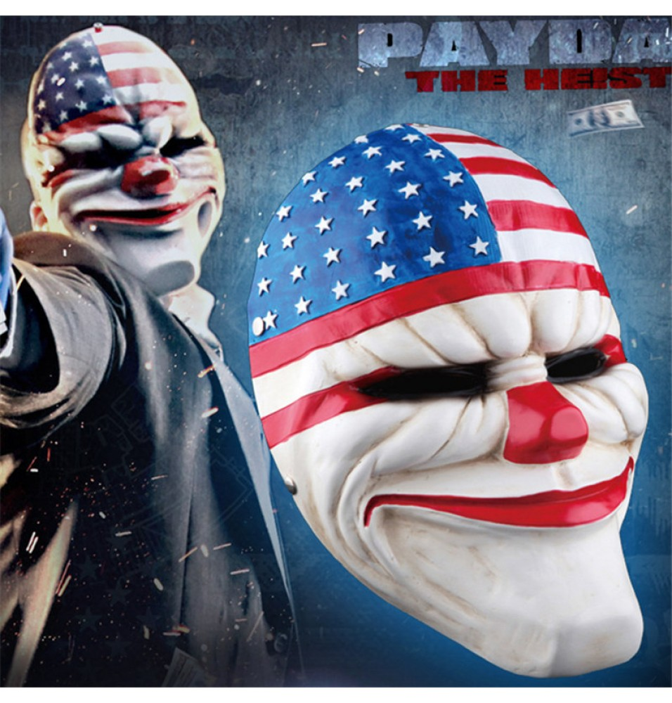 PAYDAY 2 Dallas Cosplay Halloween Mask Collection
