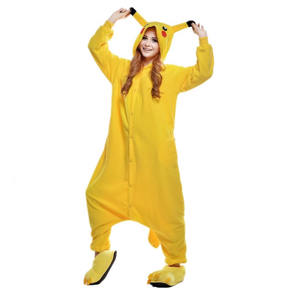 Pikachu Onesie Kigurumi Pajama for Adults