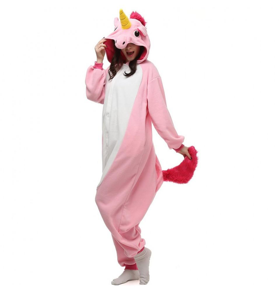 Pink Unicorn Onesie Kigurumi Pajama For Adults