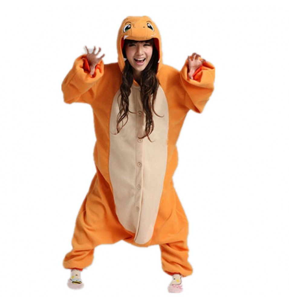 Pokemon Charmander Onesie Kigurumi Pajama For Adults