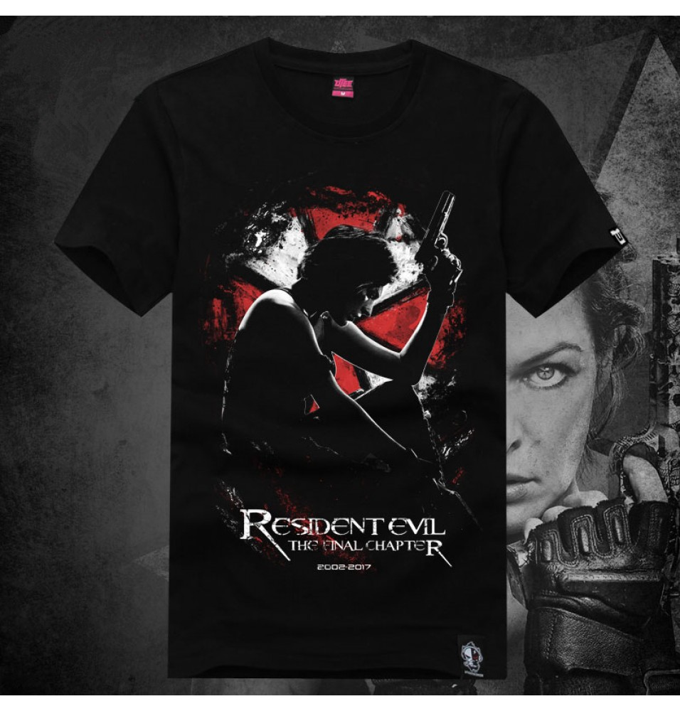Resident Evil 6 The Final Chapter Alice Umbrella Short Sleeve T-shirts