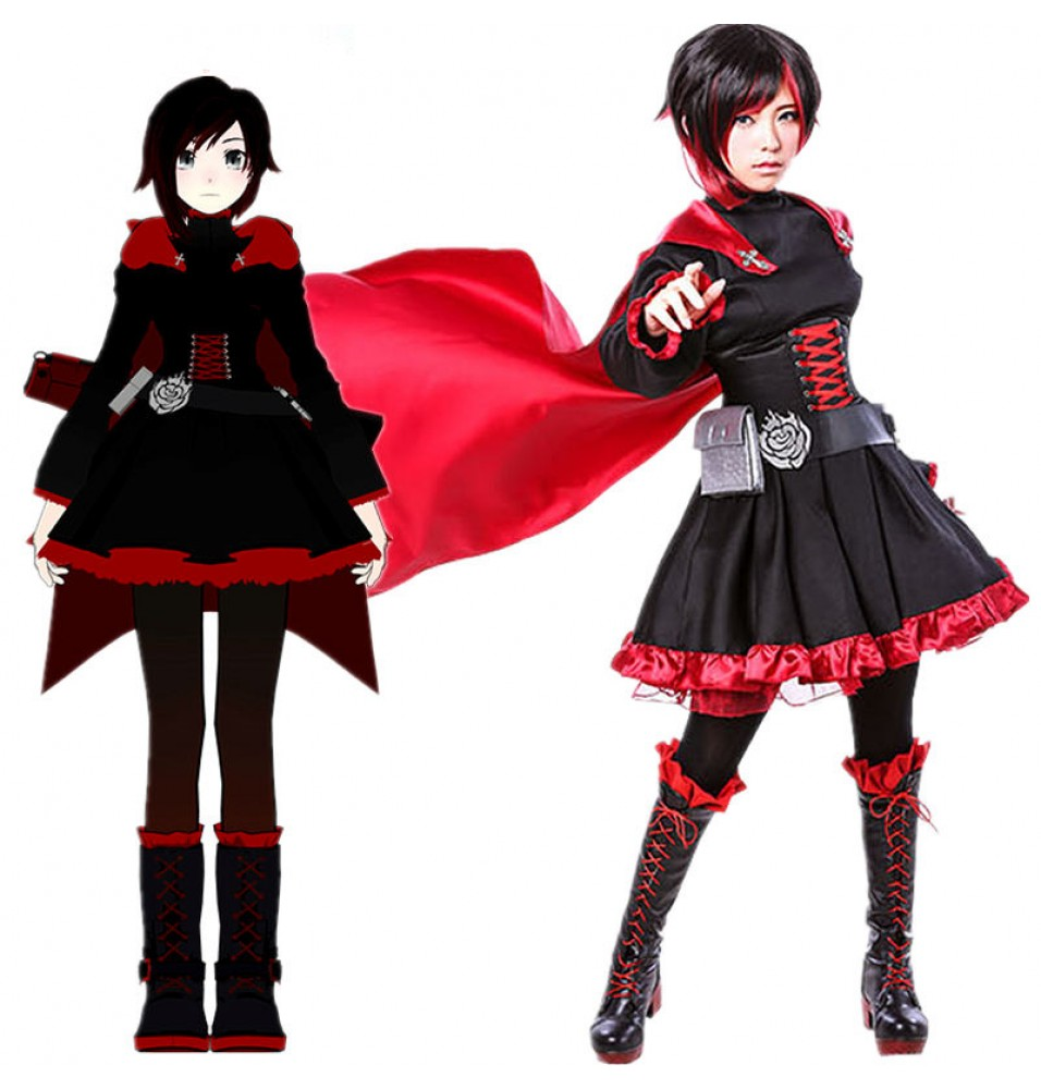 RWBY Red Trailer Ruby Rose Cosplay Costume