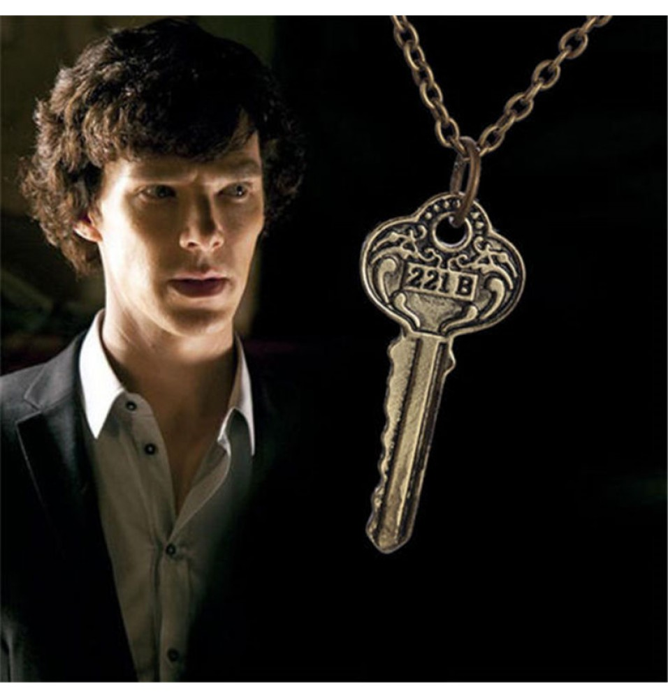Sherlock Holmes The Key to 221B Vintage Necklace