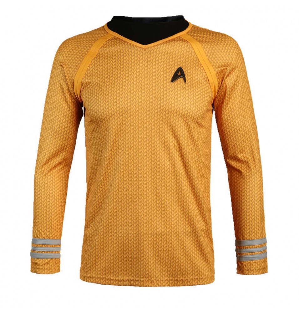 Star Trek Into Darkness Captain Kirk Yellow Shirt Uniform Costume