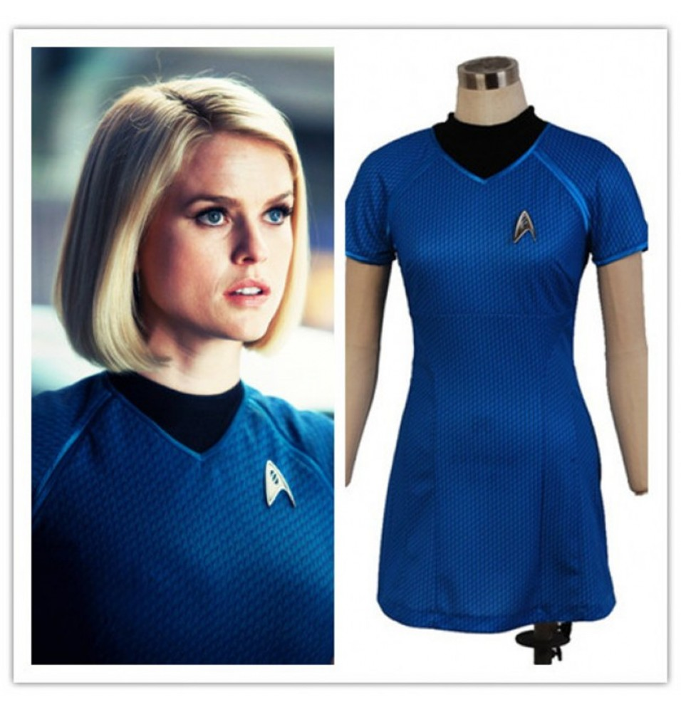 Star Trek Into Darkness Carol Marcus Blue Uniform Dress Costumes