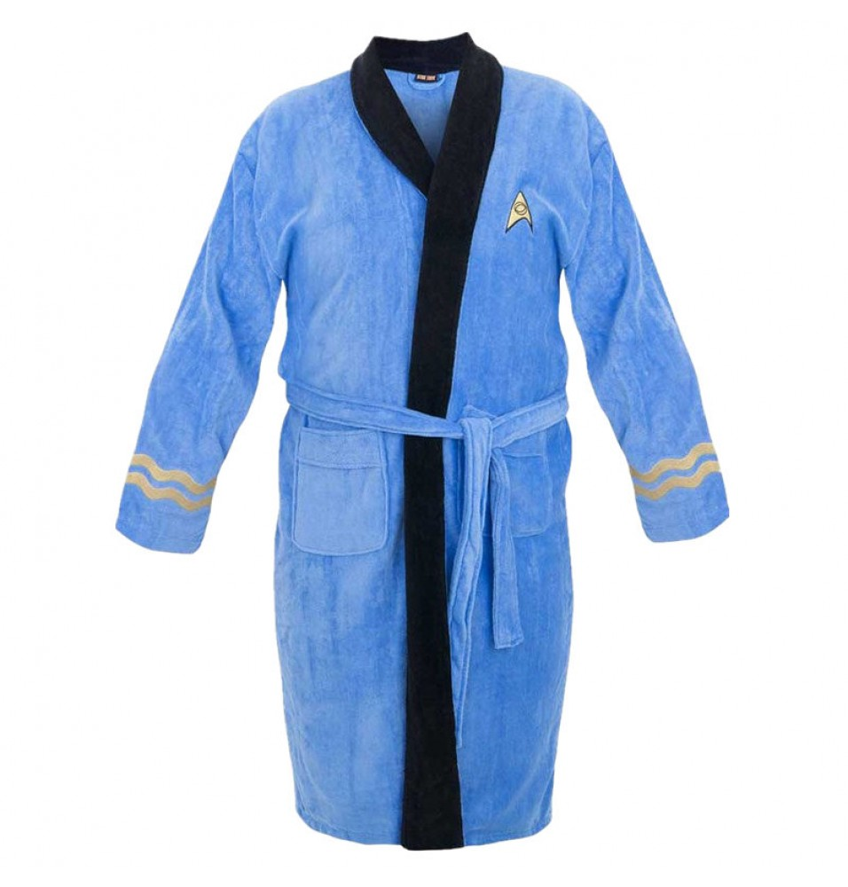 Star Trek Spock Costume Blue Bath Robe