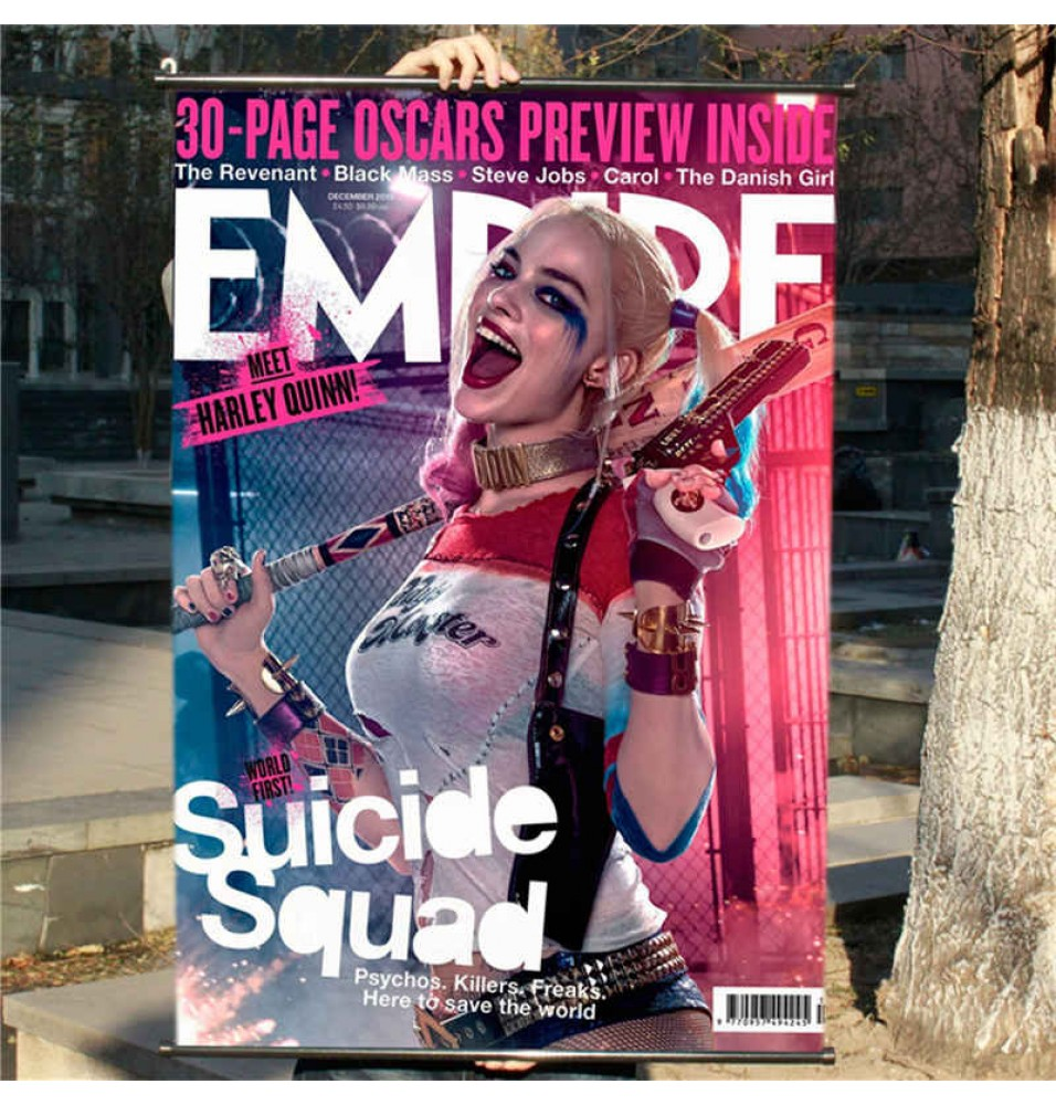 Suicide Squad Harley Quinn Poster Art Silk Fabric Poster Decor With Hanging Scrolls