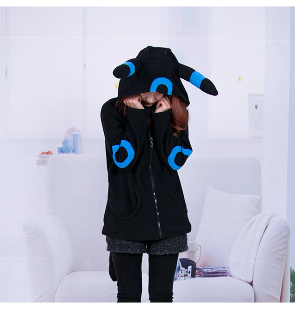 Timecosplay Anime Pokemon Go Umbreon blue Cosplay Kigurumi Hoodie