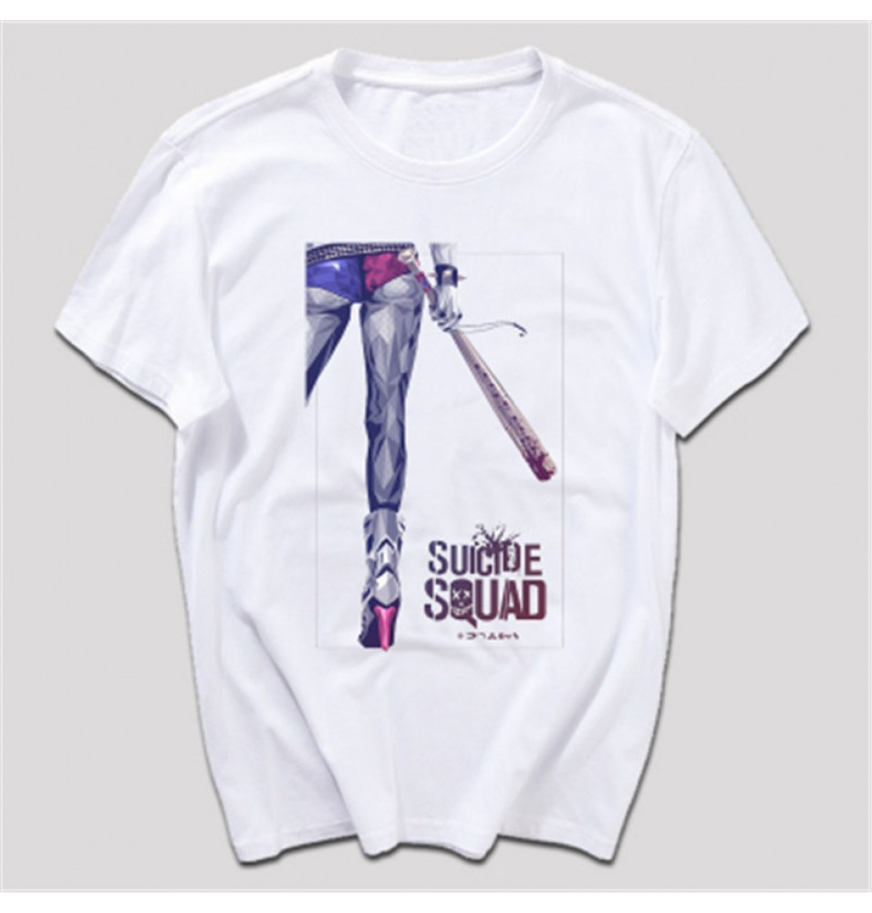 Timecosplay 2016 Harley Quinn Suicide Squad Short Sleeve Tee Shirts