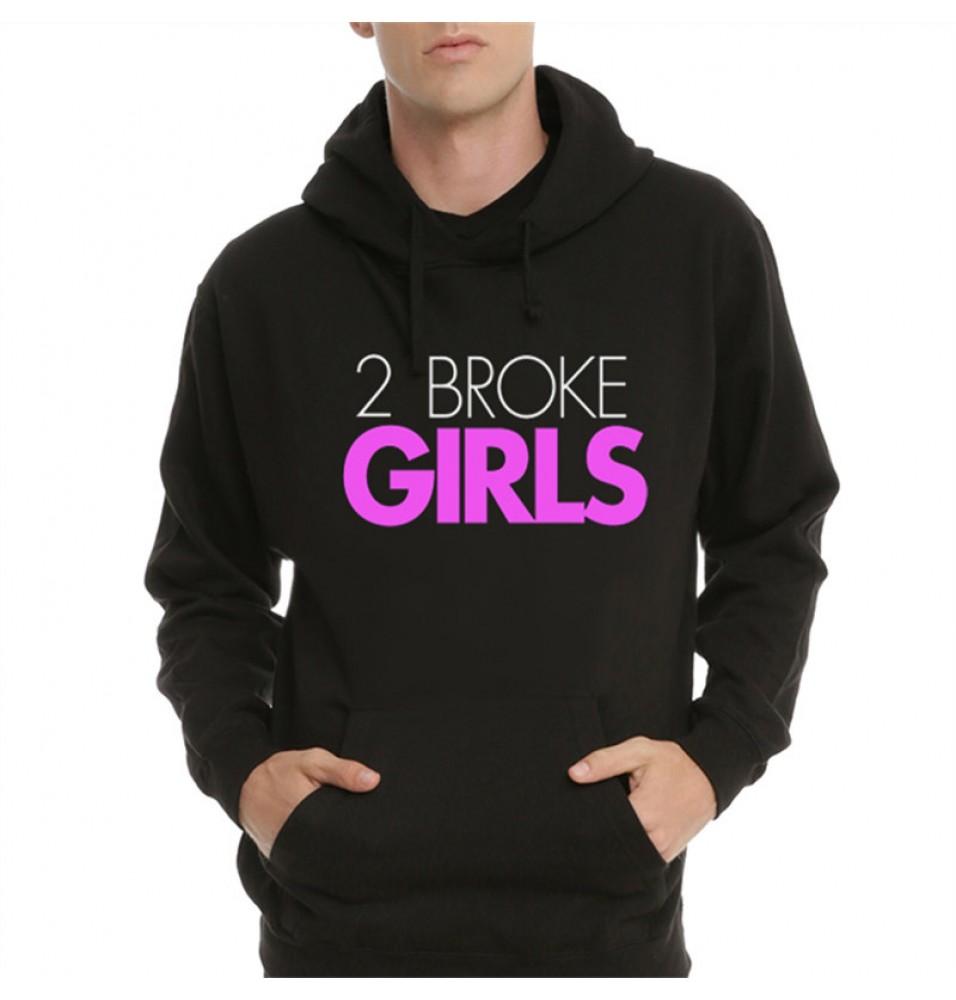 TimeCosplay 2 Broke Girls Pullover Hoodie Sweatshirts