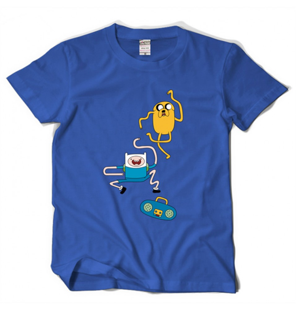 Timecosplay Adventure Time with Finn and Jake Men Tee Shirts