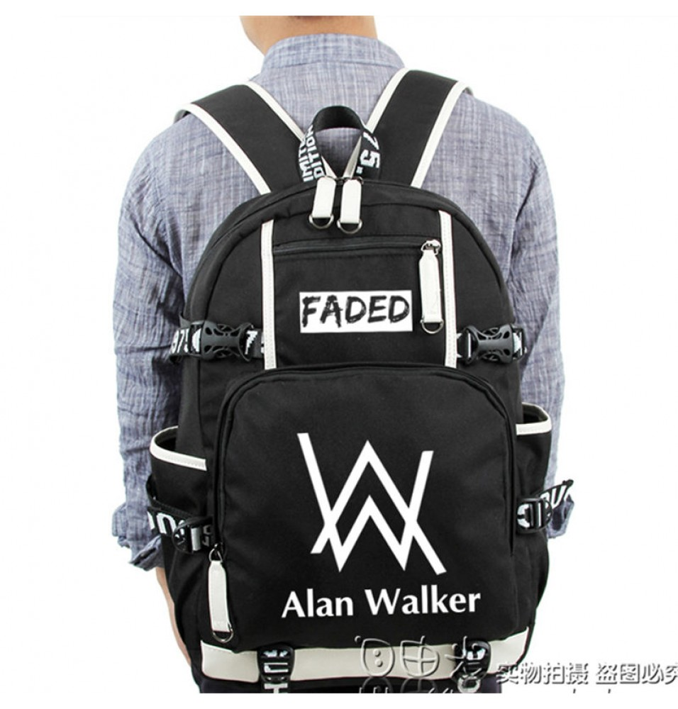 Timecosplay Alan Walker Same Style Backpack School Bag
