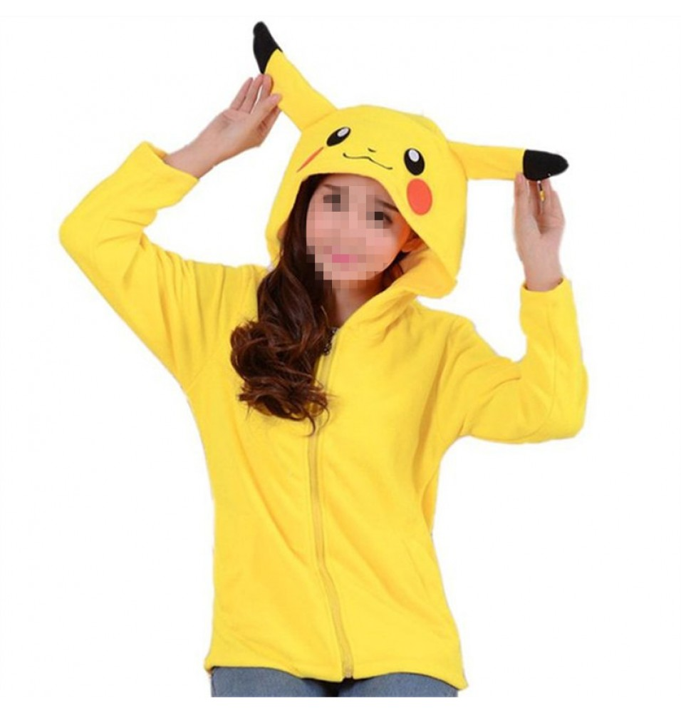 Timecosplay Anime Pokemon Go Cute Cartoon Stitch Pikachu Cosplay Hoodie Kigurumi Sweater