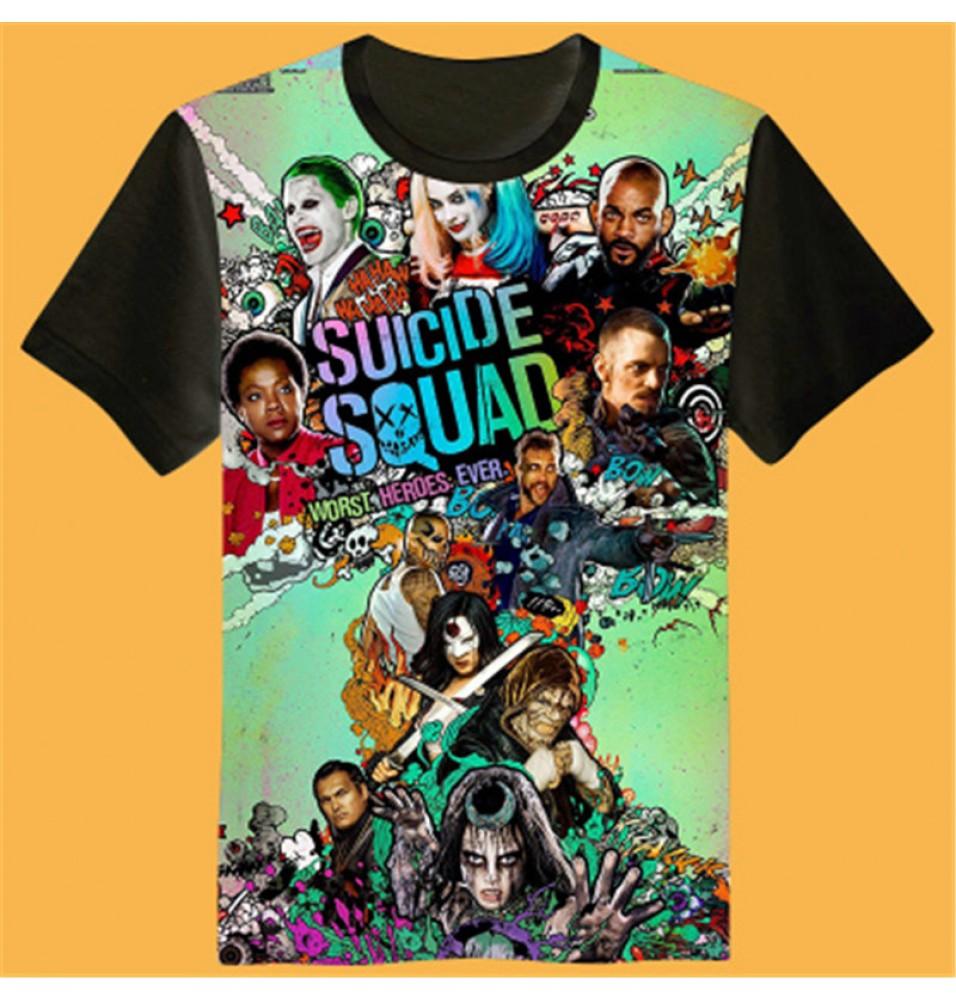 Timecosplay DC Suicide Squad  3D Print Harajuku Men Tee Shirts