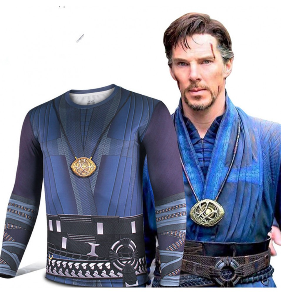 Timecosplay Doctor Strange Cosplay Long Sleeve Sports T-Shirt Deluxe Version