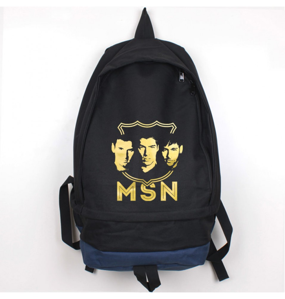 Timecosplay Fútbol Club Barcelona MSN Messi Suarez Neymar Icon Backpack School Bag