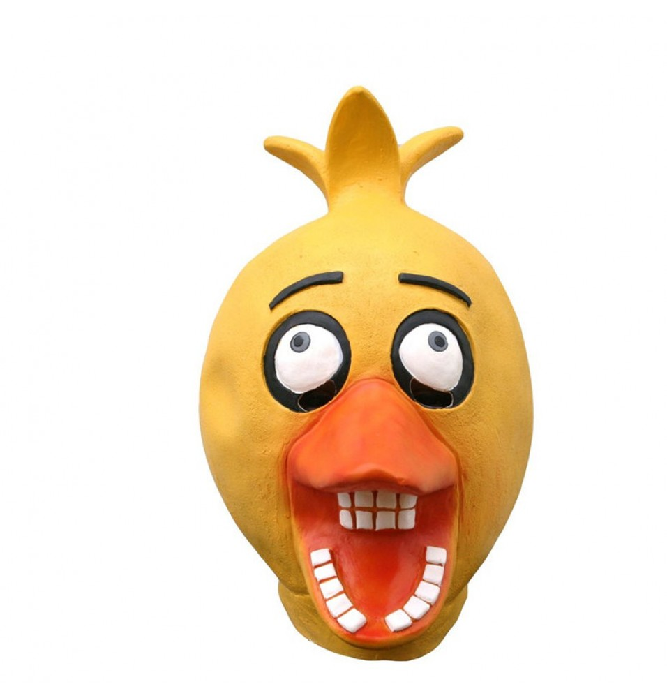 TimeCosplay Five Nights at Freddy's Chick Chica Cosplay Latex Mask Halloween