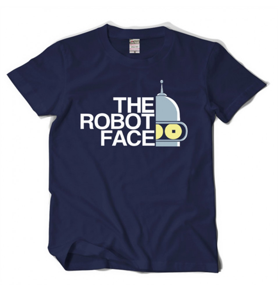 Timecosplay Futurama The Robot Face Sleeve Tee Shirts