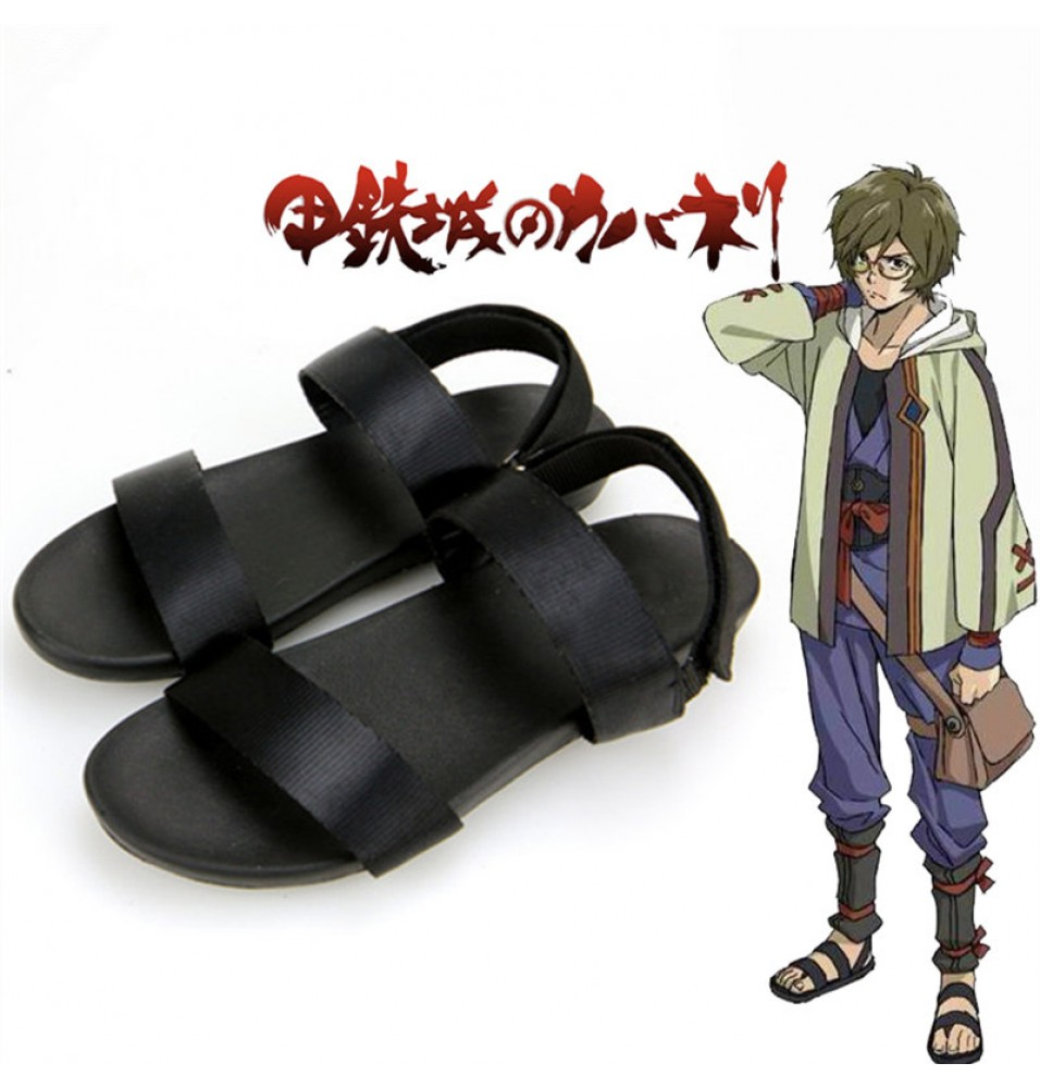 Timecosplay Kabaneri of the Iron Fortress Ikoma Shoes Sandals Cosplay