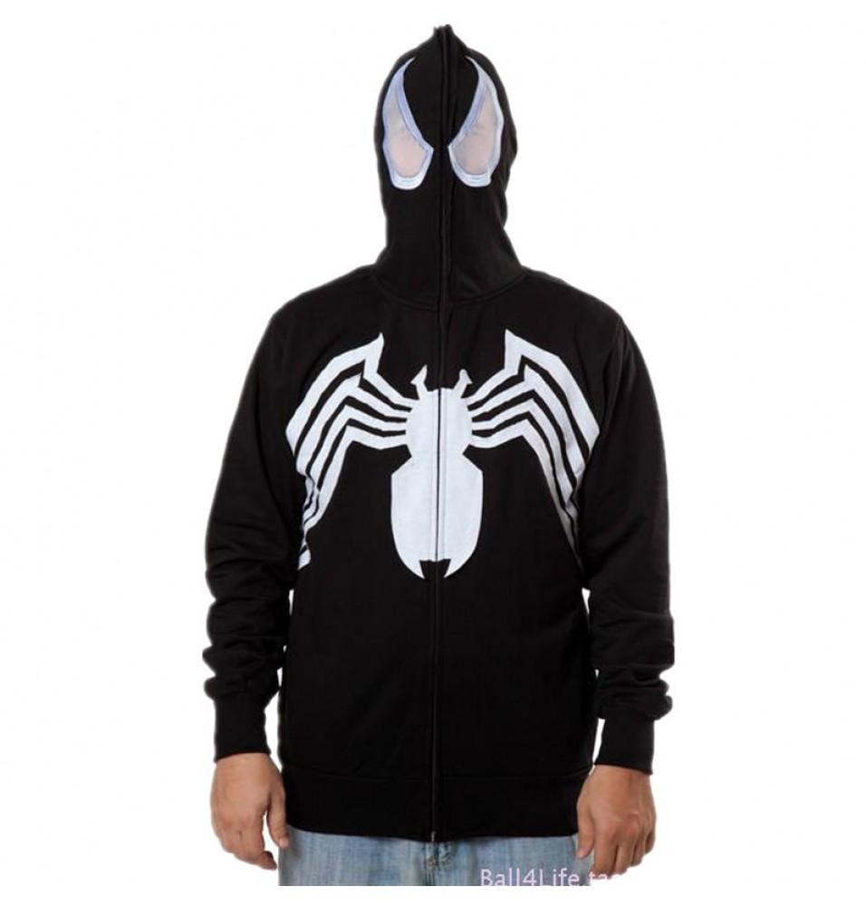 Timecosplay Mavel Spider-Man Cosplay Venosuit Zipper Hoodies Jacket Sweatshirt