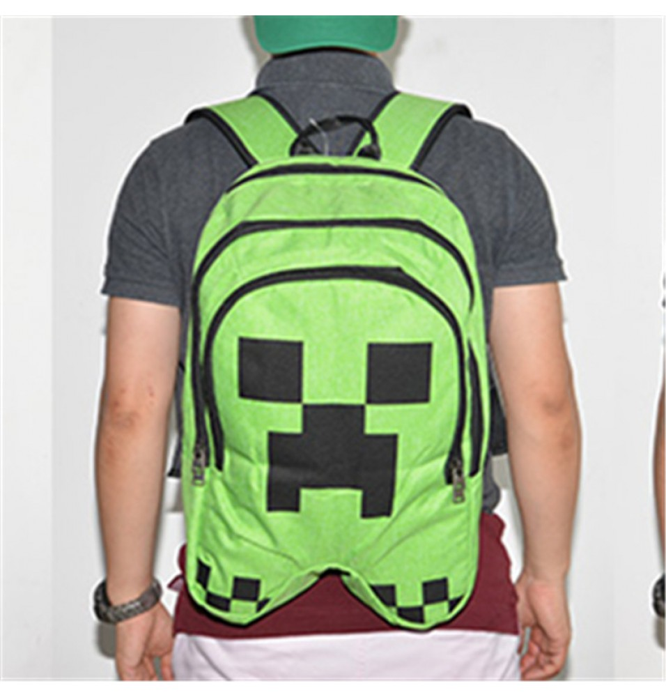 Timecosplay Minecraft Creeper Cosplay Bag Schoolbag Backpack