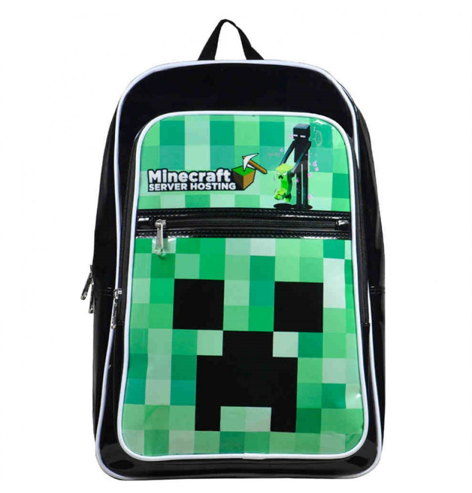 Timecosplay Minecraft Creeper Cosplay School bag Backpack