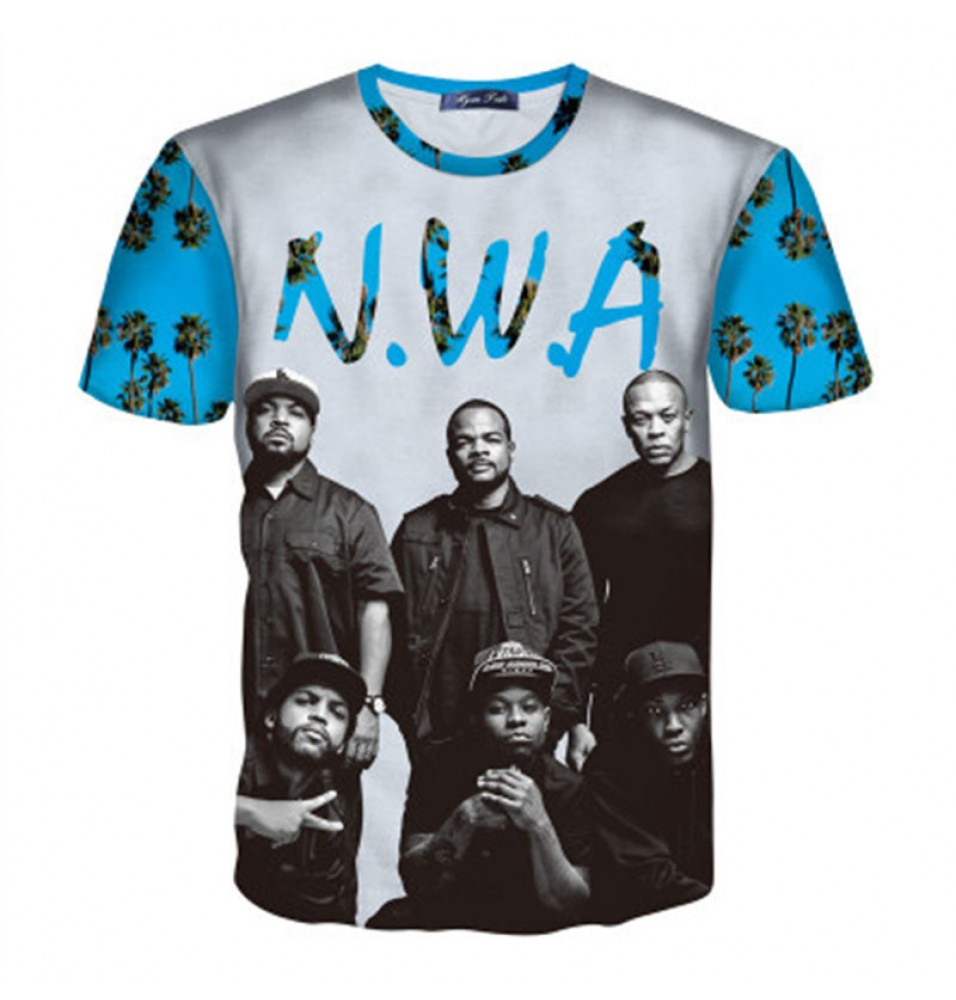 Timecosplay N.W.A Straight Outta Compton Hip-Hop 3D T-Shirts