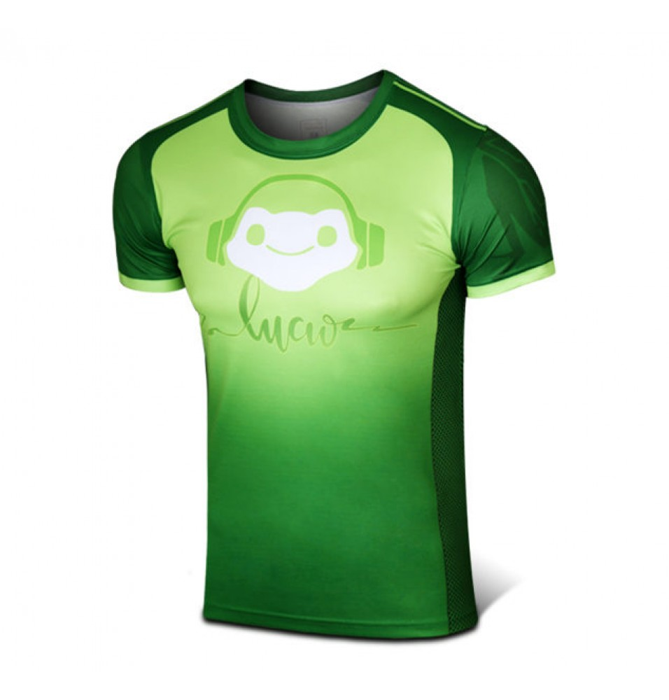Timecosplay Overwatch Hero Lucio Cosplay Sport Tight 3D Tee Shirt