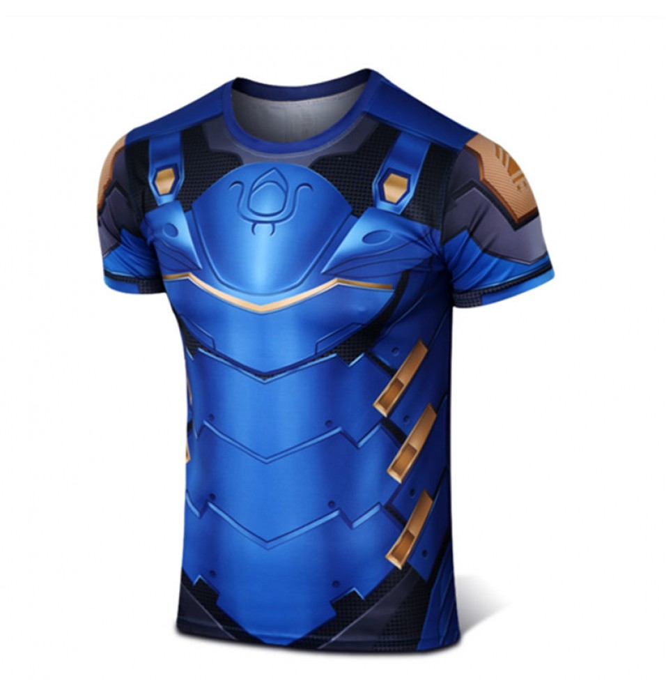 Timecosplay Overwatch Hero Pharah Cosplay Sport Tight 3D Tee Shirt