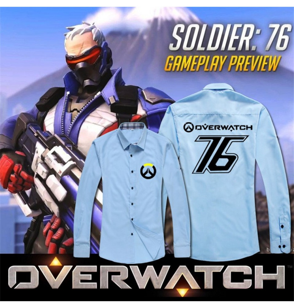 Timecosplay Overwatch Soldier 76 Cosplay Shirt