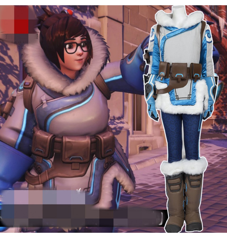 Timecosplay Overwatch Zhou Meiling MEI Cosplay Costumes  Full Set-Deluxe