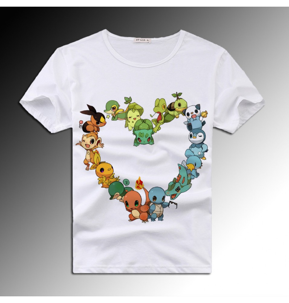 Timecosplay Pokemon Go 3D Icon Short Sleeve Tee Shirt