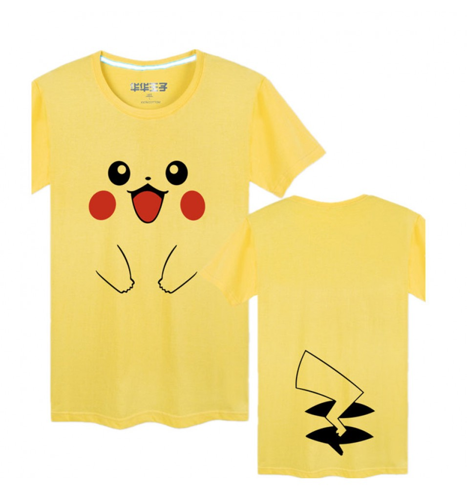 Timecosplay Pokemon Go Pikachu Men Cool Short Sleeve Cosplay Tee Shirt