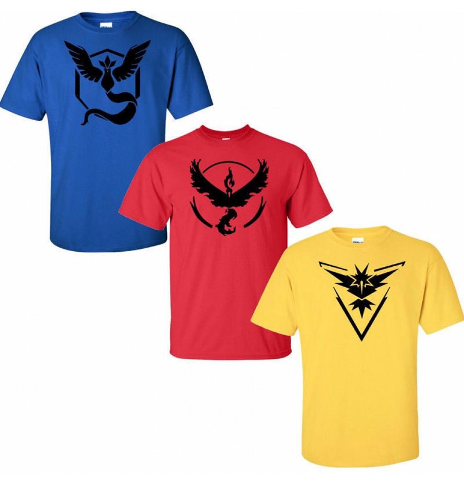 Timecosplay Pokemon Go Team Instinct Black Tee Shirts