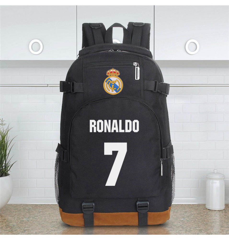 Timecosplay Real Madrid Ronaldo 7 Schoolbag Backpack