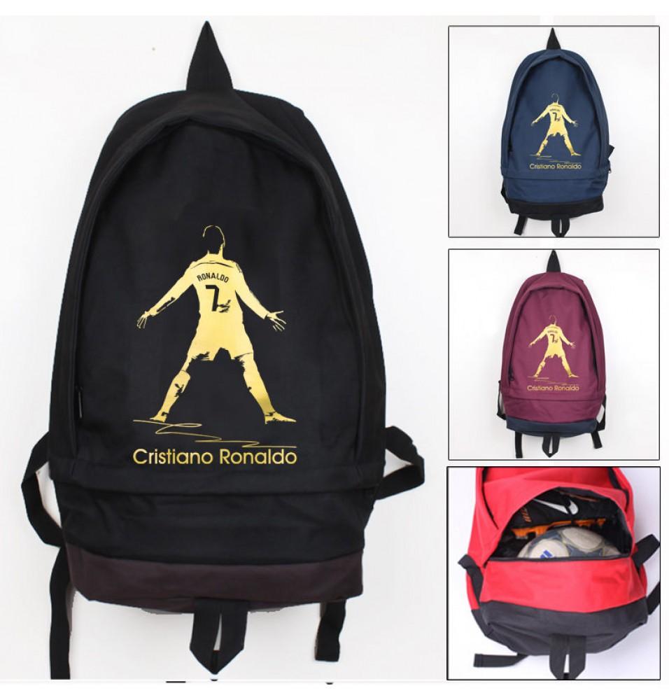 Timecosplay Real Madrid  Ronaldo Celebrate Logo School bag Backpack