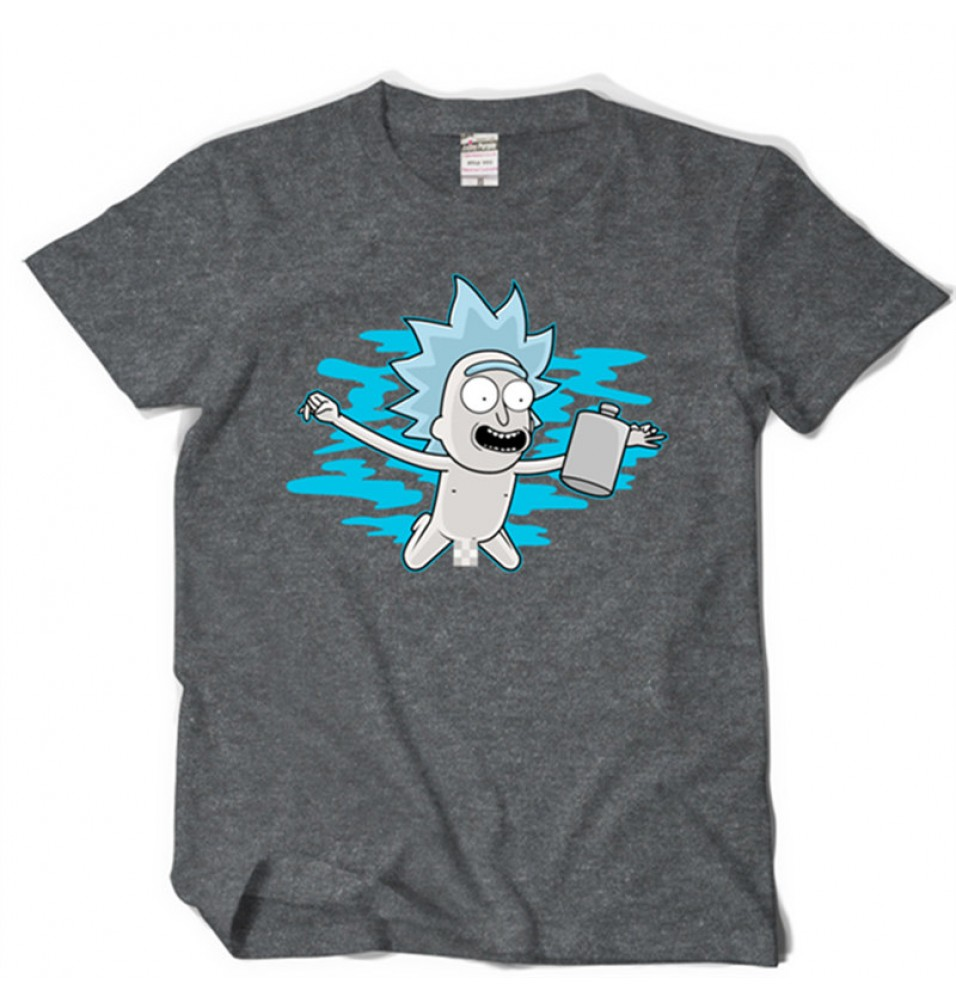 Timecosplay Rick and Morty Rick Sanchez Short Sleeve Tee Shirts