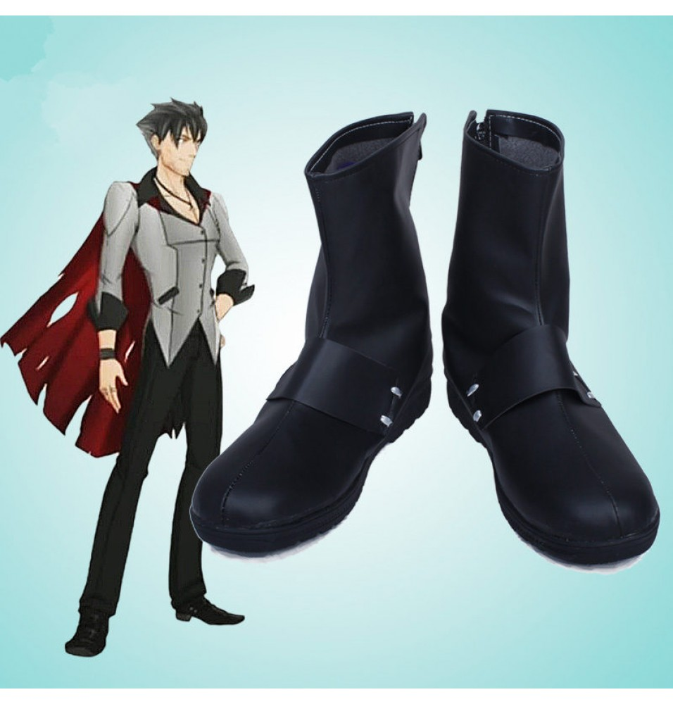 Timecosplay RWBY Qrow Branwen Black Boots Cosplay Shoes