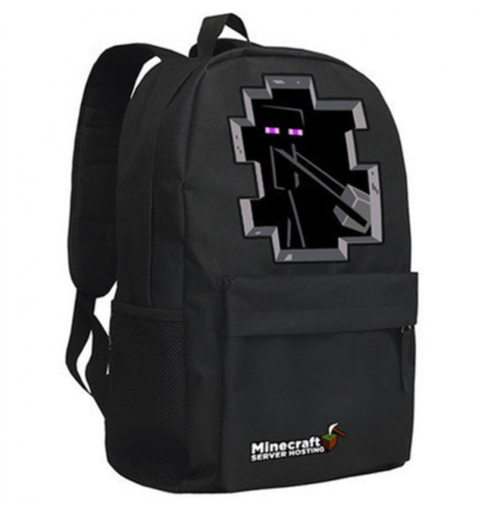 Timecosplay Minecraft SEnderman Logo Cosplay Bag School bag Backpack