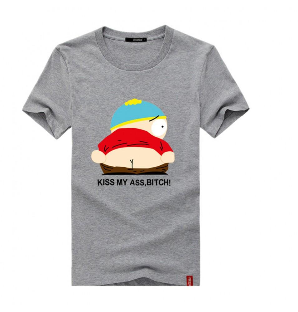 Timecosplay South Park Eric Kiss My Ass,BIATCHo Short Sleeve Tee Shirts