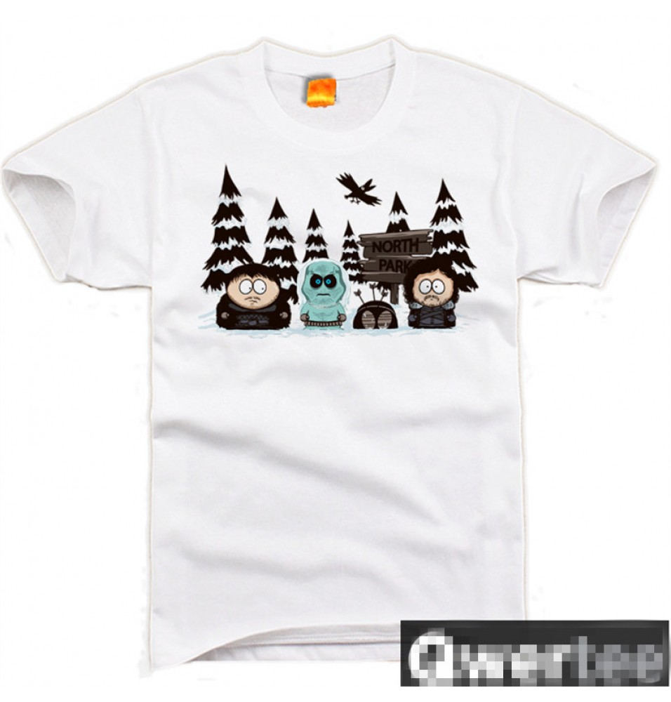 Timecosplay South Park Game of Thrones Short Sleeve Tee Shirts