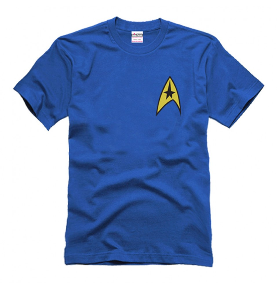 Timecosplay Star Trek Spock Better World Command Logo Tee Shirts