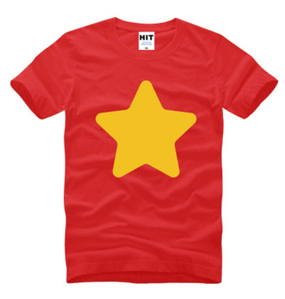 Timecosplay Steven Universe Steven Quartz Universe Cosplay Short Sleeve T-Shirts