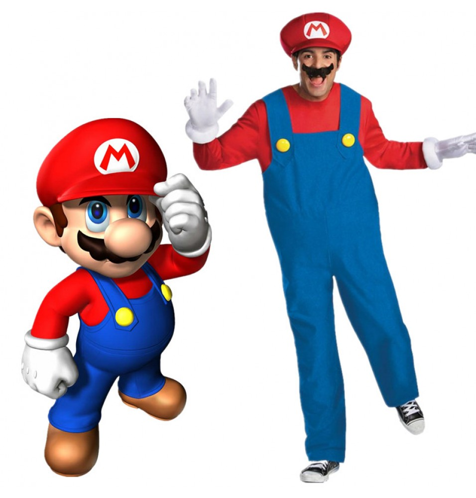 Timecosplay Super Mario Brothers Deluxe Mens Adult Cosplay Costume