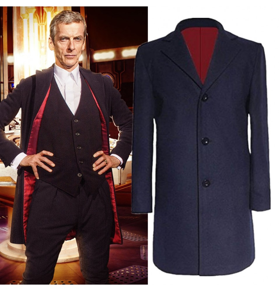 Timecosplay 12th Twelfth Doctor Who Peter Capaldi Coat Jacket Costume Cosplay