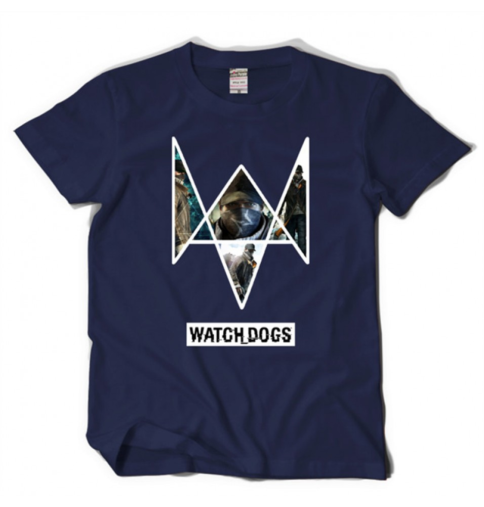 TimeCosplay Watch Dogs Logo Men Tee Shirt T-Shirt