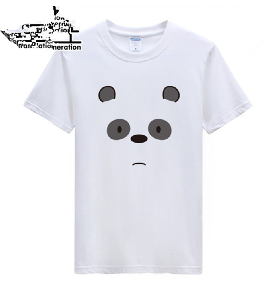 Timecosplay WBB We Bare BearsIce Panda Short Sleeve Tee Shirts